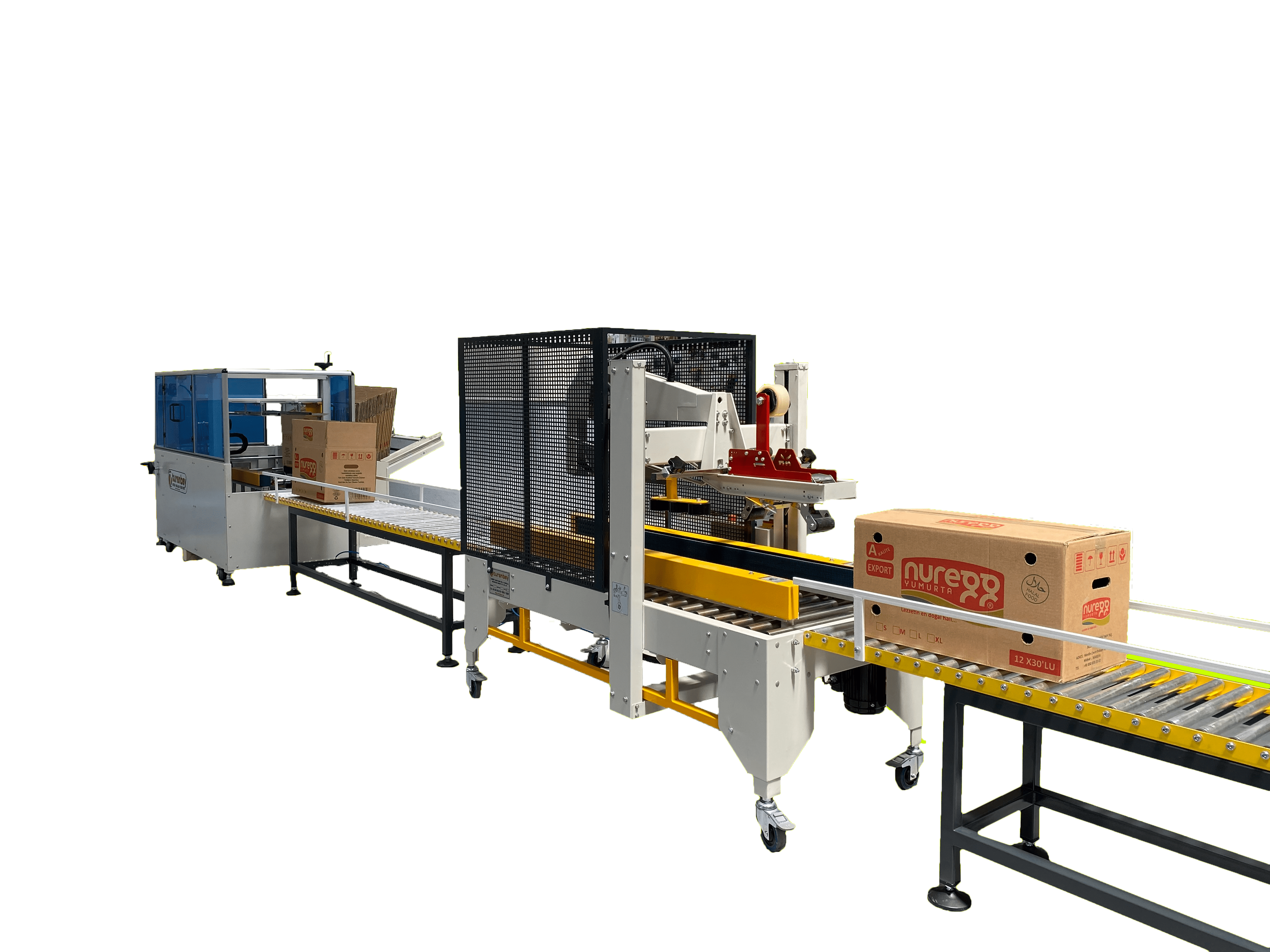 Fully Automatic Parcel Preparation and Top Taping Machine