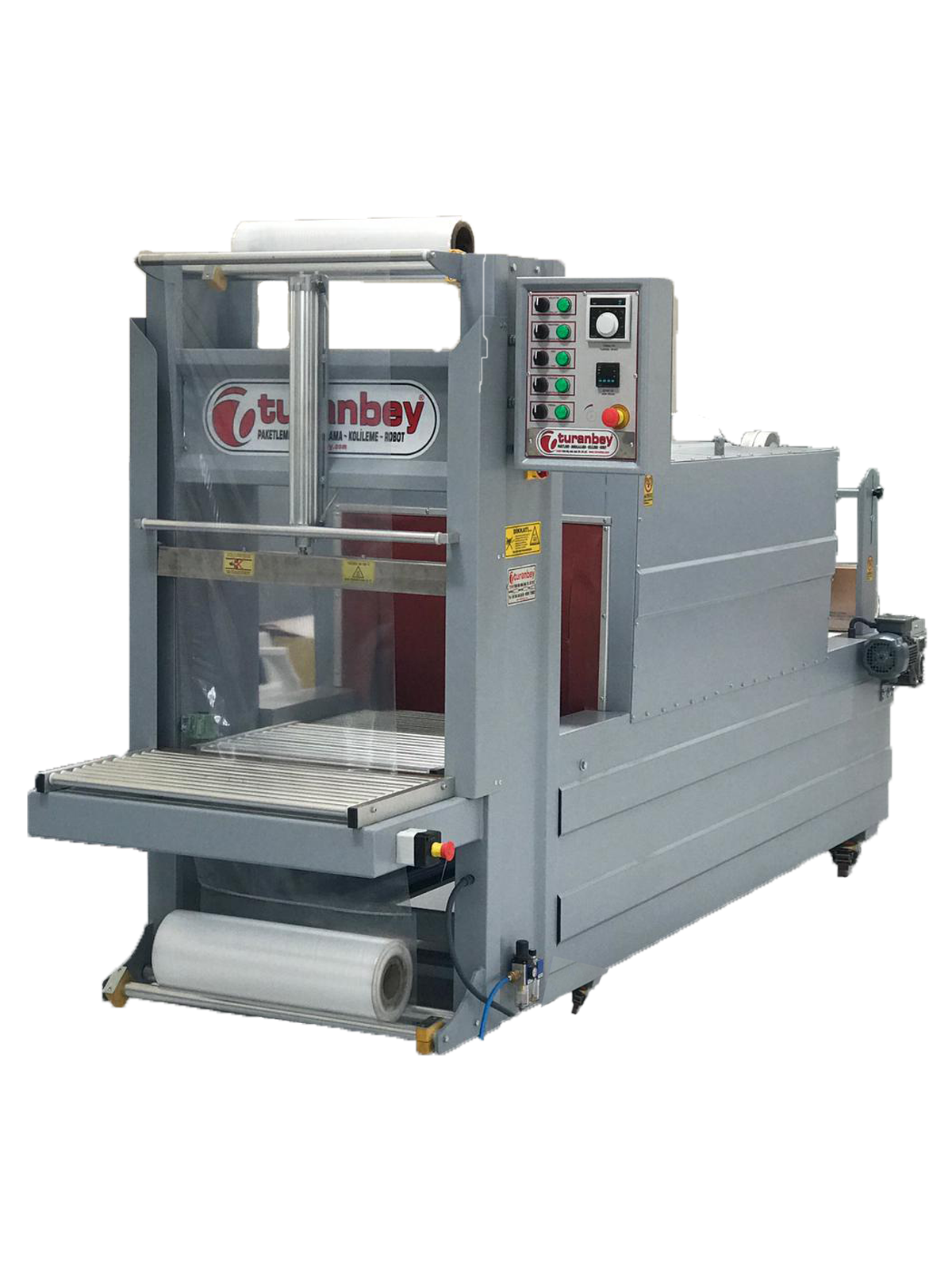 New System, Latest Technology Semi-Automatic Front Feed Shrink Machine